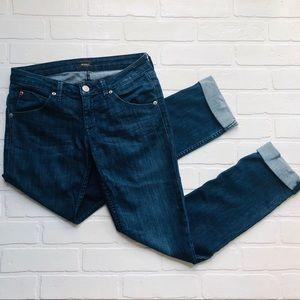 Hudson Jeans Bacara Cropped Straight Leg Size 26